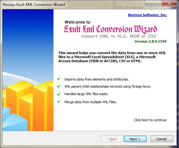 How to convert XML data to Access