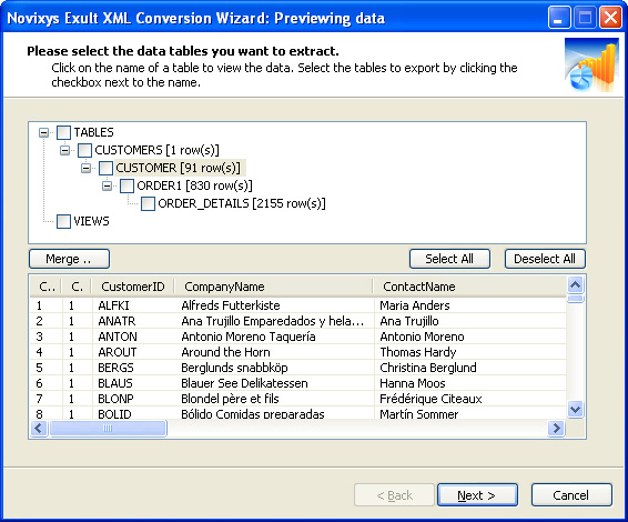 convert an excel document into xml